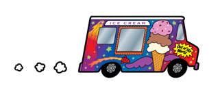 Our Ice Cream Truck Caters... Festivals, Weddings, School Events, Graduation & Office Parties